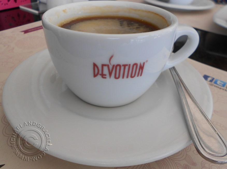Coffee served at Myriam Camhi has a smooth taste.