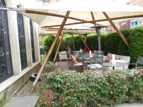 Outside seating in the front provides a garden dining experience
