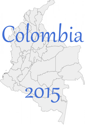 Colombia map large
