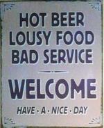El Ingles hot beer sign