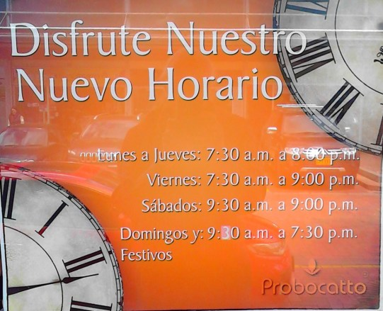 Probocatto is open from early to late