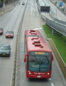 Transmilenio Bus Bogota