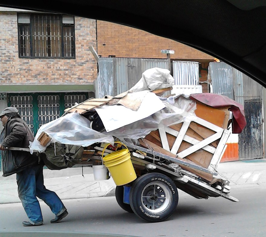 waste picker recycler Bogota Colombia