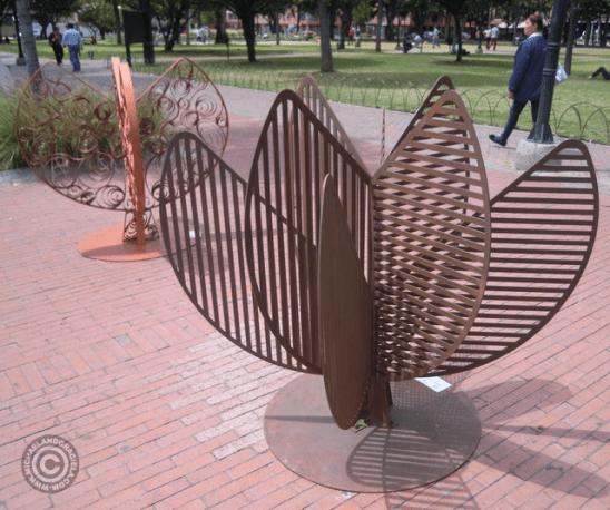 Atum by Ramon Laserna (foreground) and Cuprum by Rafael Oritz (background)