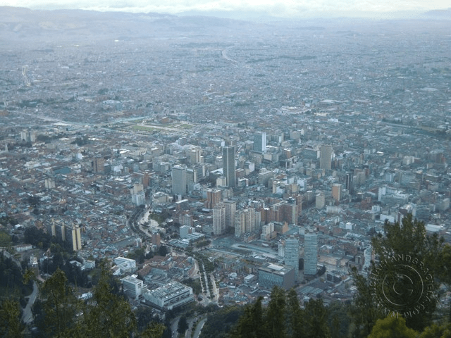Bogotá as seen from Monserrati
