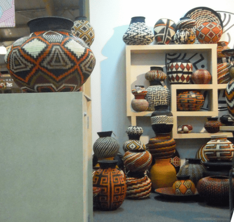 colorful baskets and bowls