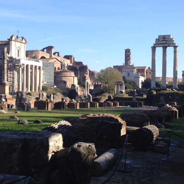 The Roman Forum, looking southeast.