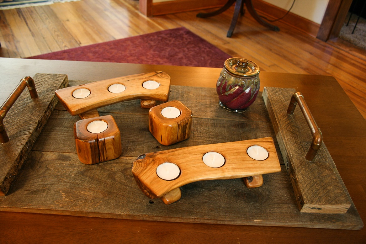Rustic Tealight Set