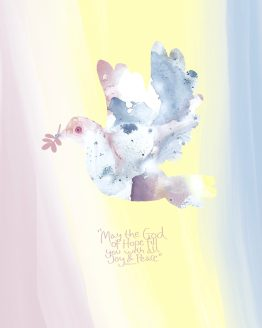 Joy and Peace. Plakat. Poster. Christian art.