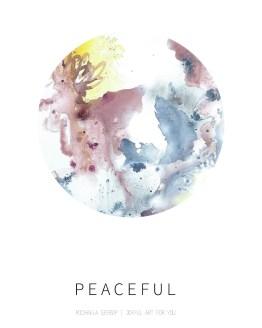 Color circle peaceful