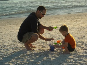 Chris Petersen and Brennan at Siesta Key