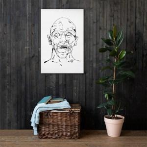 Printed canvas artwork