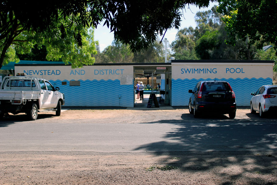 The Newstead swimming pool, which is run by volunteers from the town