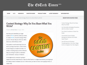 Content Strategy: Why Do You Share What You Write?