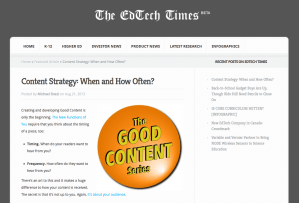 Content Strategy: When and How Often?