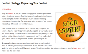 Content Strategy: Organizing Your Content