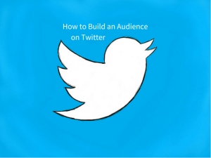 How to Build an Audience on Twitter