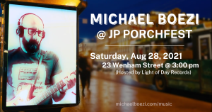 Michael Boezi Live Solo Performance at Wenham Street Cinema