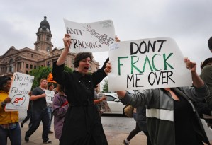 """Fracking"" Protest in Fort Worth, Texas"