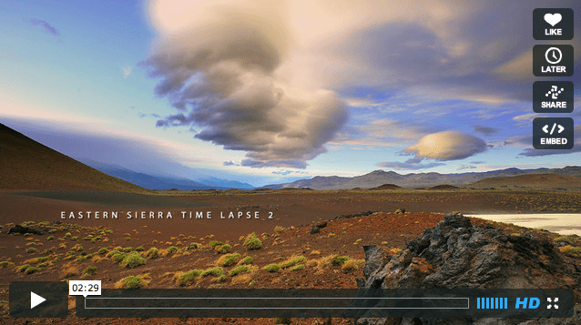 National Park Week: Eastern Sierra Time Lapse