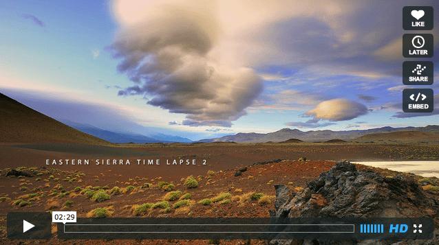 National Park Week: Eastern Sierra Time Lapse