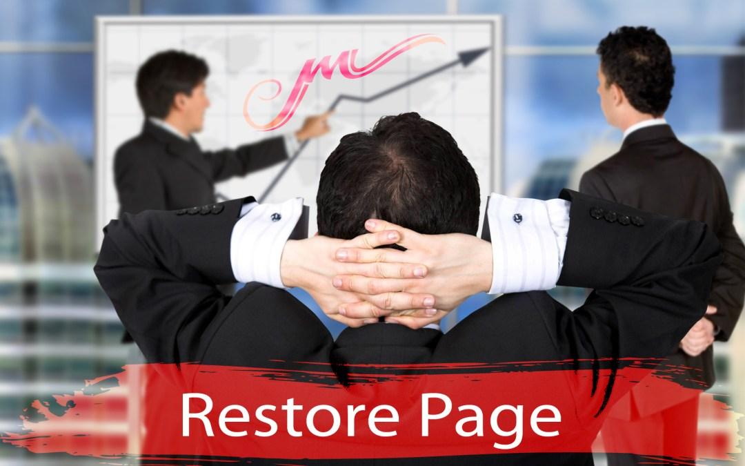 Restore Page
