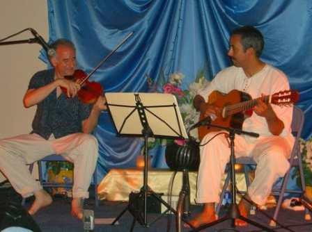 Emiliano Valerio on guitar Ananda Ashram June 2008