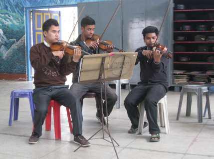Gandhi Ashram School Students Feb 24 2014