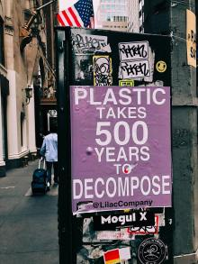 Plastic takes 500 years to decompose.
