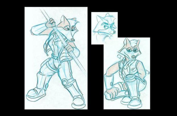Fox poses