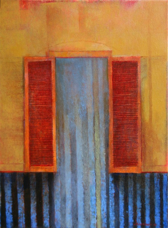 Gipsy Doors, 16 x 12 inches, oil on canvas