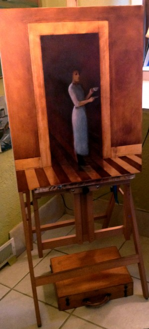 Michael Chambers, painting in process
