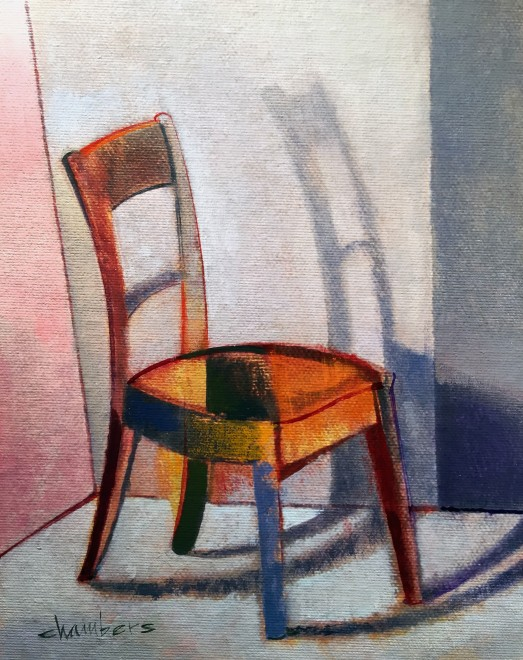 Michael Chambers - oil on canvas - Christmas Chair