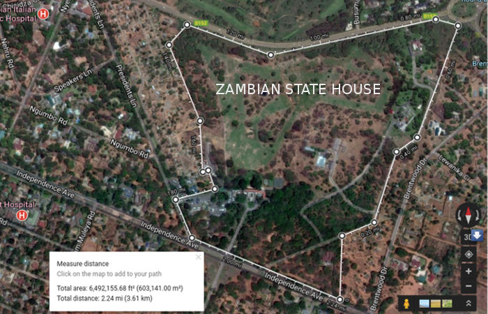 Zambian State House map