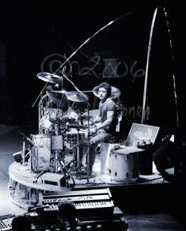 Mr. Jones from my original seating area angle, with a special set of arches for the drum riser
