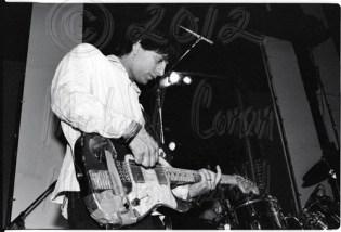 Lee Renaldo & taped Fender [Sonic Youth - I Beam, SF 7-7-86]