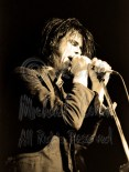 Nick Cave two hands on mic eyes closed [Nick Cave & The Bad Seeds - I Beam, SF 10-28-86]