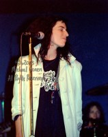 """Patti Smith Group Bogart's Cincinnati, Ohio 2-16-78 *** Patti Smith Group; Bogart's; Cincinnati; Ohio; 2-16-78; Any further use requires permission from the photographer; Michael Conen. *** These photos were taken on print film, and then digitally scanned at 2000 dpi. All images viewed here are """"proofs"""" of the negatives. Serious inquiries regarding further publication will be entertained. Please contact me with comments, questions, etc. at michaelconen@myway.com"""