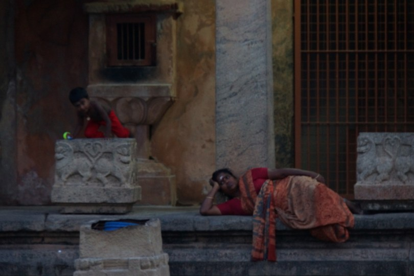 Relaxing at Brihadishwara