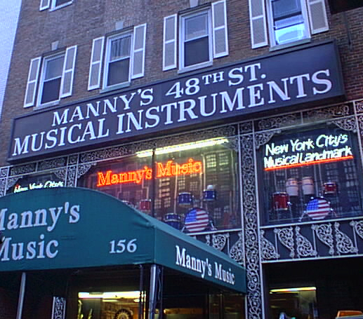 Manny's Music Store/NYC Life in the 1980's - Michael D'Agostino