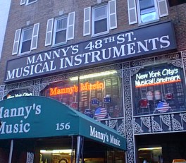 Manny's Music Store Front