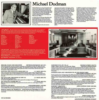 Music for Organ (back cover)