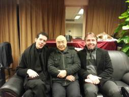 2014_01_09: Edgerton with Moritz Ernst and Jia Daqun (famous Chinese Composer and Theorist, Director of the Graduate Study Programs & Executive Director of the Research Center of Contemporary Musical Creation at the Shanghai Conservatory of Music).