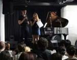 preconcert talk to audience at NuSpace in Chengdu