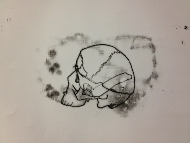 Skull print by Michael Fredman