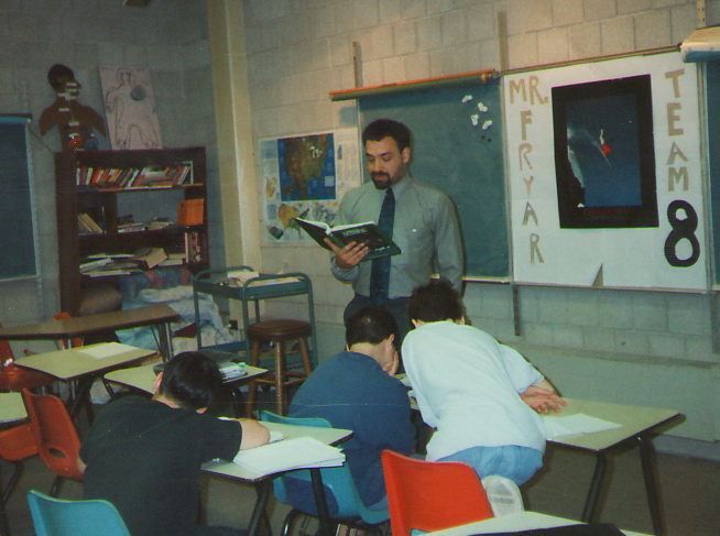 Mike in classroom