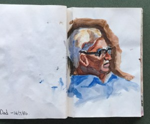 Sketchbook, Dad, 1986