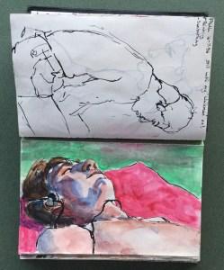 Sketchbook, Paul Sunbathing, 1986