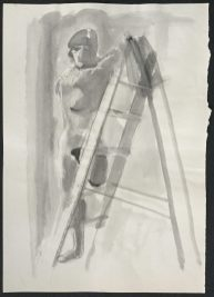 1986 Ink and chalk with wax resist 23 x 16 1/2 in.