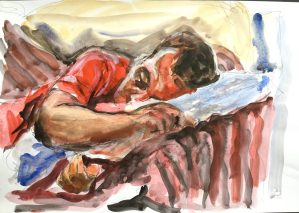 Portrait, Roberto sleeping, 1988
